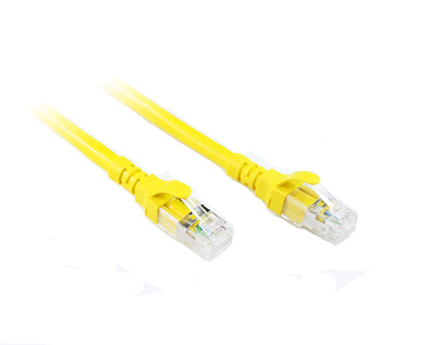 Product image for 1M Yellow Cat 6A 10GB S/FTP Cable | AusPCMarket Australia