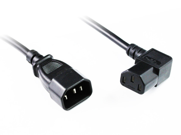 Product image for 2M Right Angle C13 to C14 Power Cable   AusPCMarket.com.au