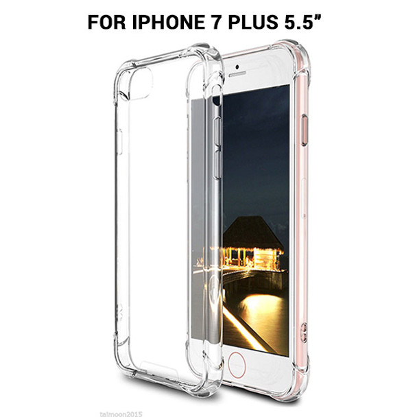 Product image for iPhone 7 PLUS  Shockproof Slim Soft Bumper Hard Back Case Cover Clear   AusPCMarket Australia