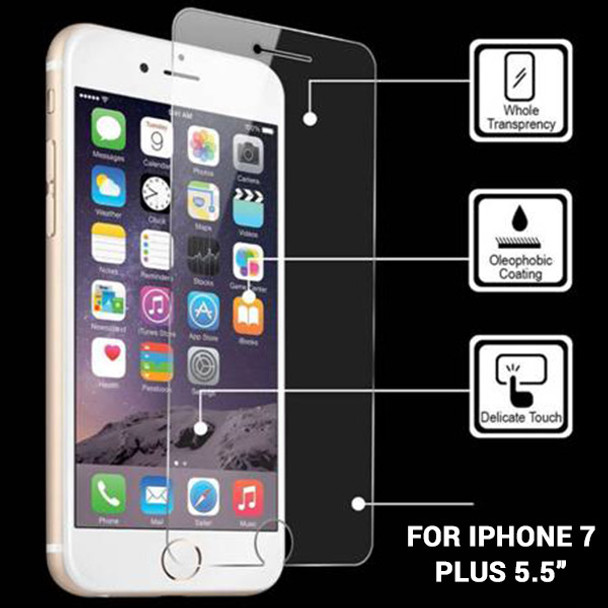 Product image for iPhone 7 Plus Temper Glass Screen Protector 5.5in   AusPCMarket Australia