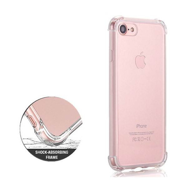 iPhone 7 Shockproof Slim Soft Bumper Hard Back Case Cover Clear Product Image 2