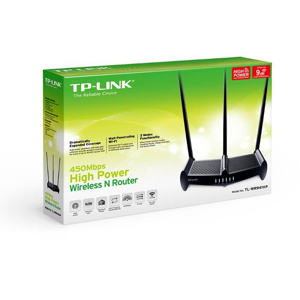 TP-Link TL-WR941HP 450Mbps High Power Wireless N Router - NBN Ready Product Image 4