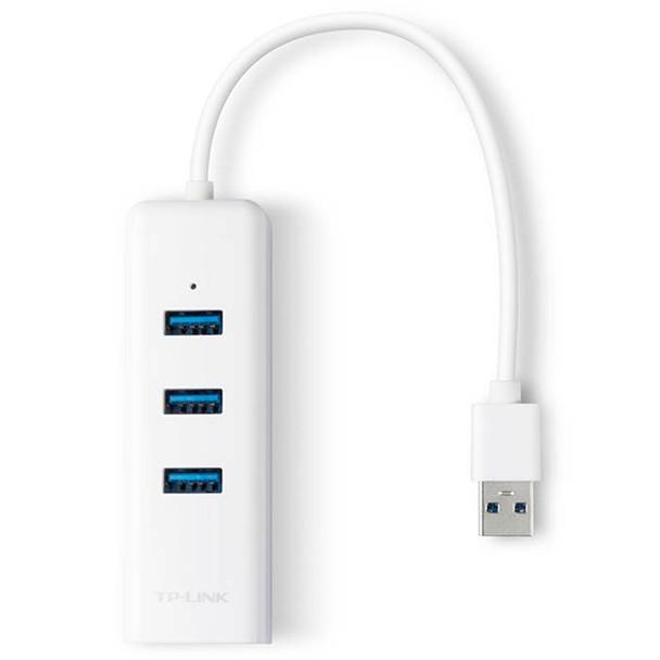 TP-Link UE330 USB 3.0 3-Port Hub & Gigabit Ethernet Adapter Product Image 2
