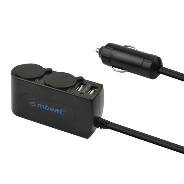 Product image for mBeat 3A/15W Dual Port USB and Cigarette Lighter Charger   AusPCMarket Australia