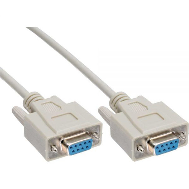 Product image for Null Modem Cable 3m - DB9 Female to Female 7C -Cu Molded type Grey | AusPCMarket Australia