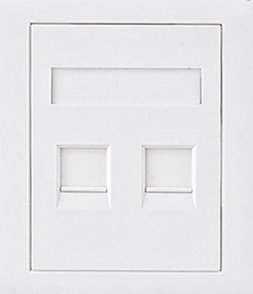 Product image for CAT6 RJ45 Wall Face Plate 86x86mm 2 Port Socket Kit | AusPCMarket Australia