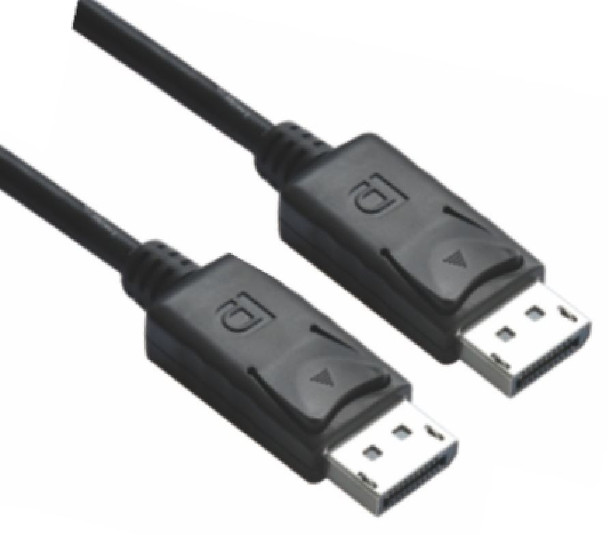 Product image for DisplayPort DP Cable 1m - 20 pins Male to Male 1.2V  Nickle Plated | AusPCMarket Australia