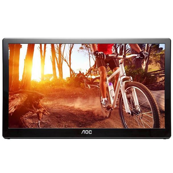 Product image for AOC E1659FWU 15.6in 1366 x 768 8ms USB3 Powered Portable LED Monitor | AusPCMarket Australia