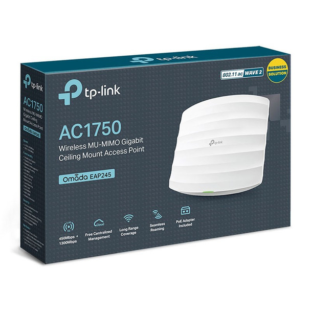 TP-Link EAP245 AC1750 Wireless Dual Band Ceiling Mount Access Point Product Image 5