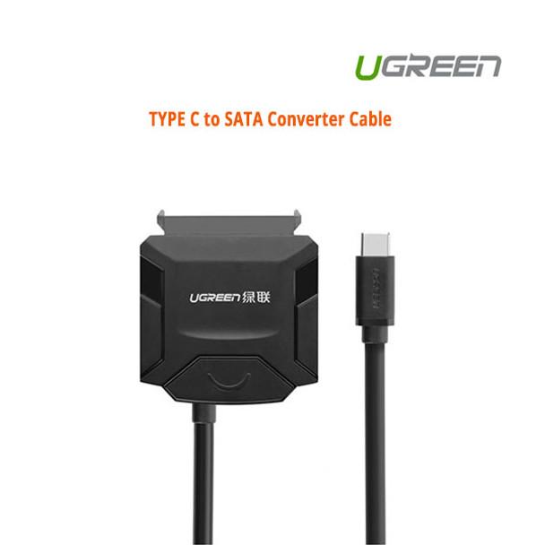 Product image for UGreen USB 3.0 type C to SATA converter cable (40272)   AusPCMarket Australia