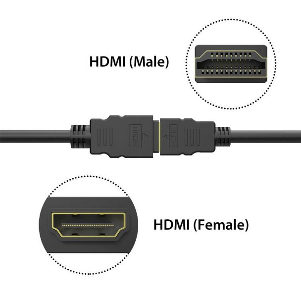 0.5M Simplecom CAH305 High Speed HDMI Extension Cable UltraHD M/F Product Image 2