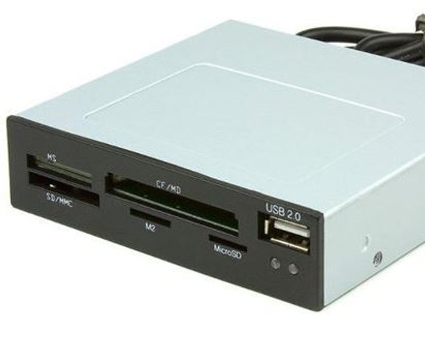 Product image for Astrotek 3.5in Internal Card Reader Black All In One USB2.0 Hub | AusPCMarket Australia