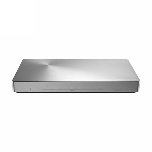 Product image for Asus XG-U2008 10-Port Unmanaged Switch Featuring 8x Gigabit and 2x 10Gbps Ports | AusPCMarket.com.au