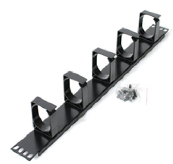 Product image for Astrotek 1U Rack Mount Cable Management Metal Panel | AusPCMarket Australia