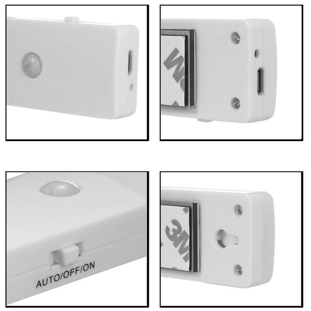 Rechargeable Infrared Motion Sensor Wall LED Night Light Torch (Cool) Product Image 3