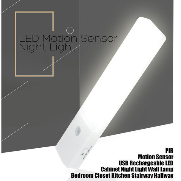 Product image for Rechargeable Infrared Motion Sensor Wall LED Night Light Torch (Cool) | AusPCMarket Australia
