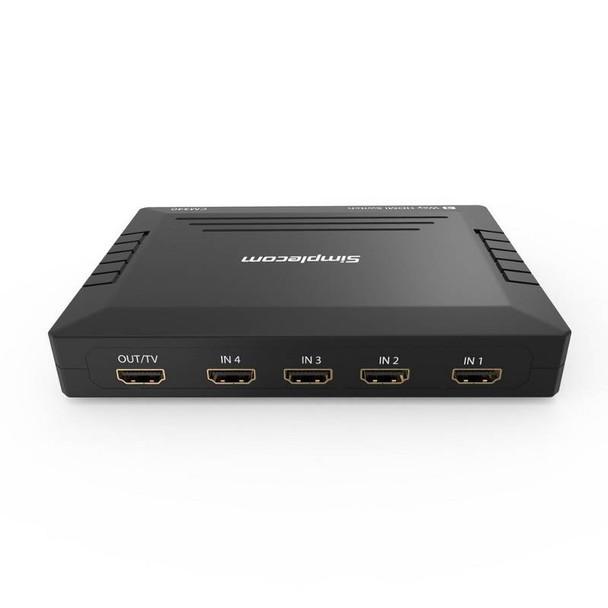 Simplecom CM340 Mechanical 4 Way HDMI Switch Box 4 Port 4K UHD Product Image 3