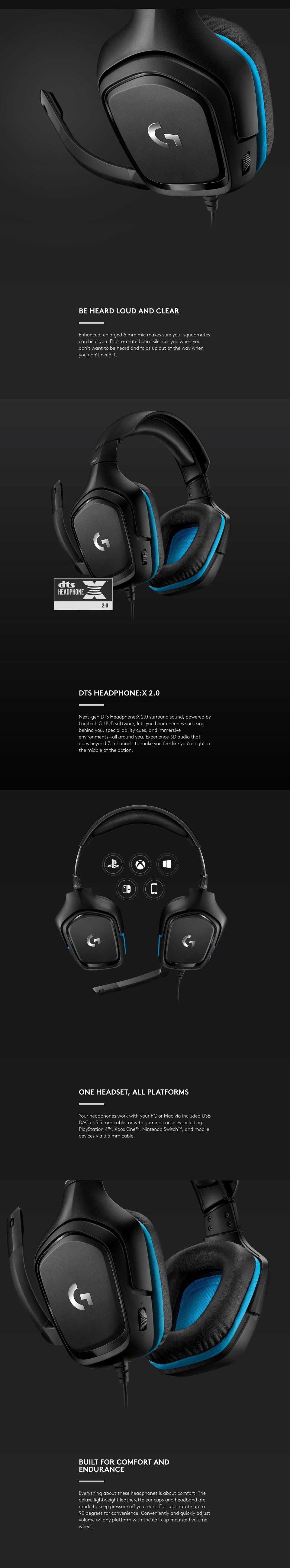 Logitech G432 7 1 Gaming Headset