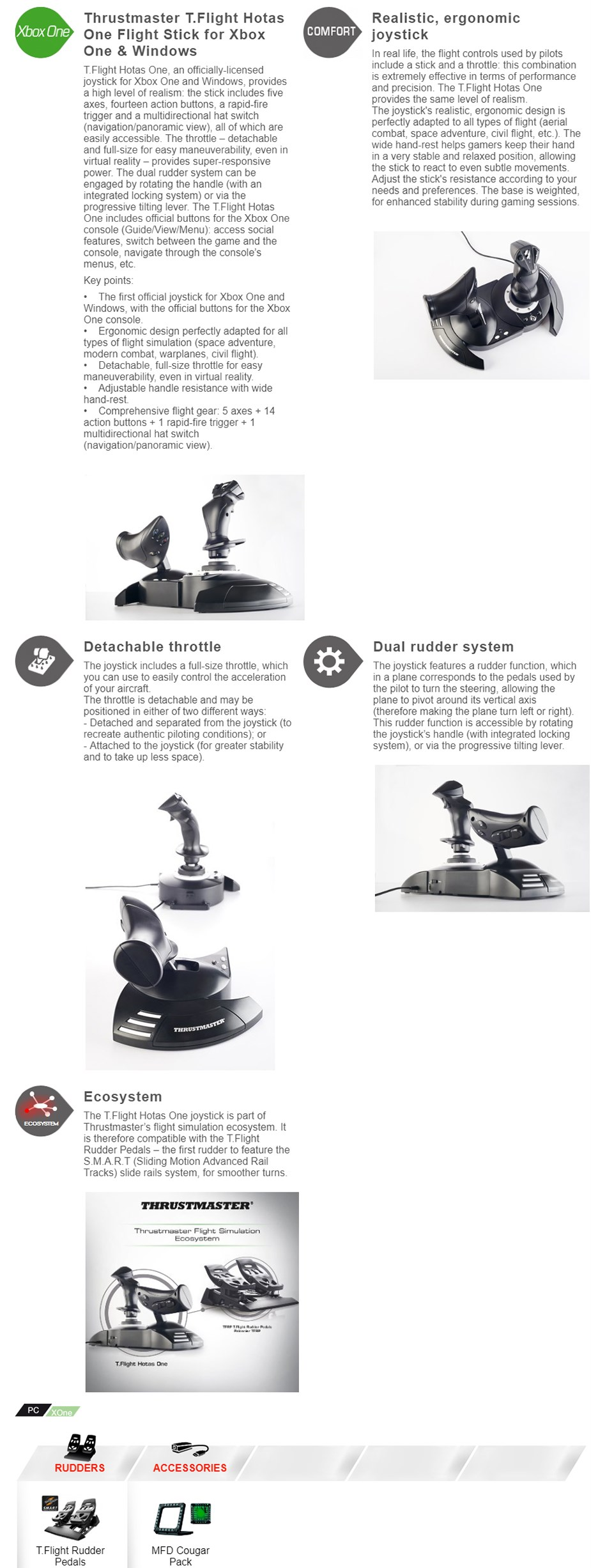 Thrustmaster T Flight HOTAS One Joystick For PC & Xbox One