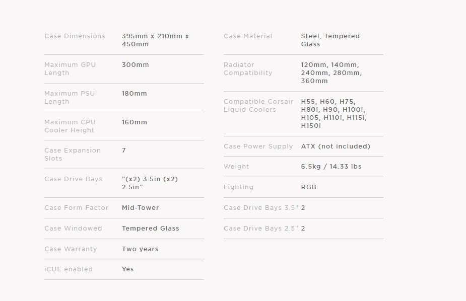 Corsair iCUE 220T RGB Airflow TG Mid Tower Case White
