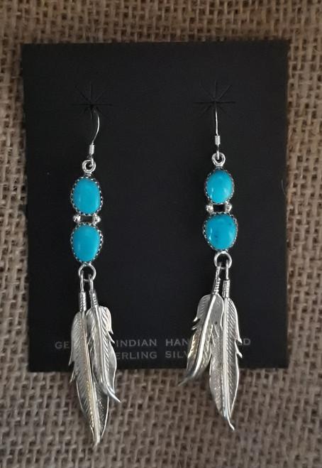 Incredable Sleeping Beauty Turquoise Drop Earrings.