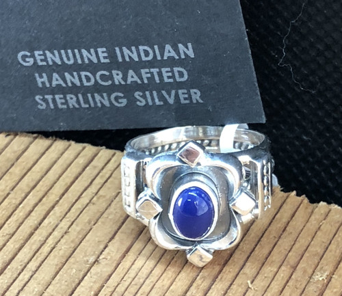 Sterling Silver Lapis Band Ring