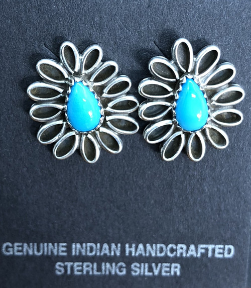Daisy Turquoise Post Earrings