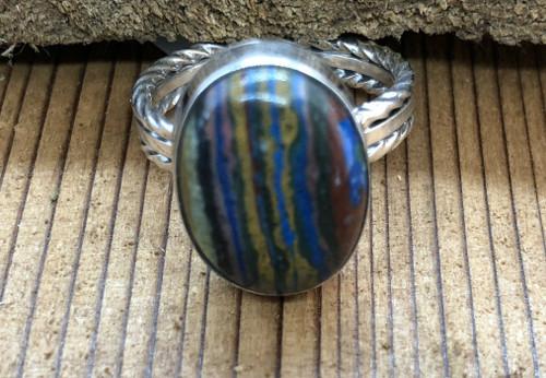 Rainbow Calsilica Ring.