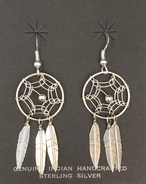 Sterling Silver Dreamcatcher Earrings