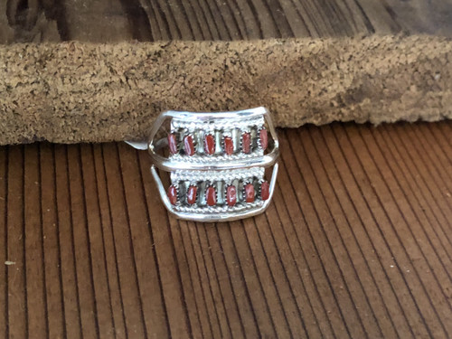 12 Stone Coral Band Ring.