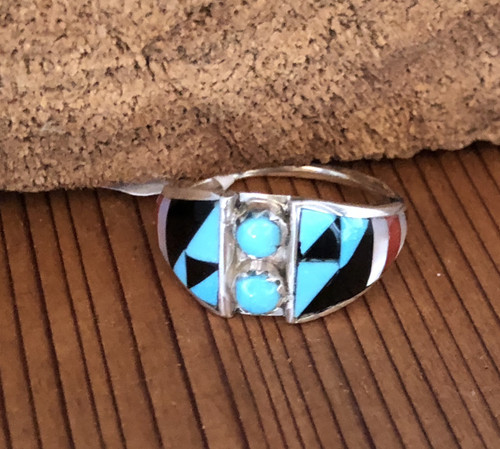 Zuni Native American multi stone ring