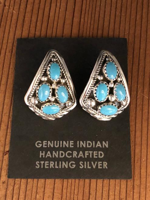 Large Teardrop Turquoise Earrings