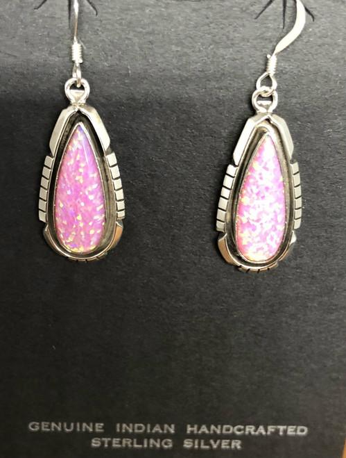 Pink Opal Drop Earrings