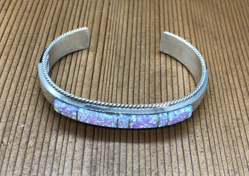 Pink Opal Inlay Cuff