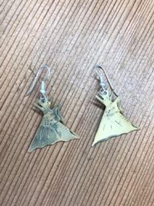 Gold Overlay Teepee Earrings