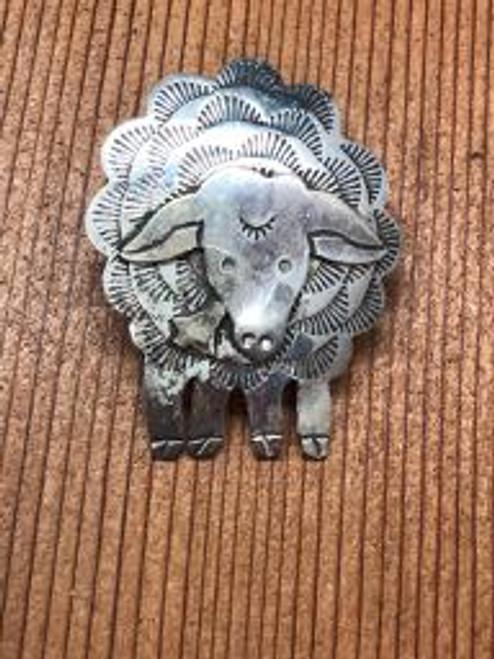 Sterling Silver Sheep Pendant,Brooch