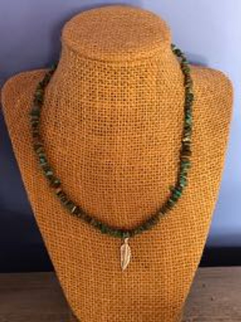 Nugget Necklace with Feather