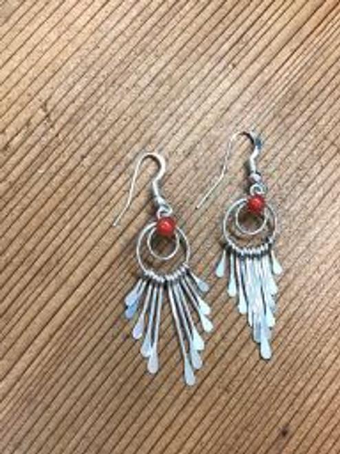 Coral Aztec Earrings