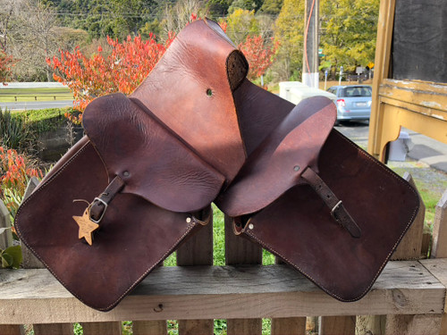 Set of Leather Saddle Bags.