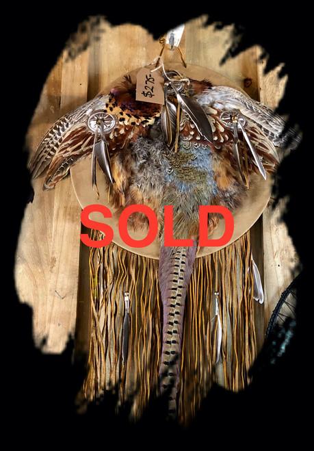 Full Pheasant Navajo hand shield.