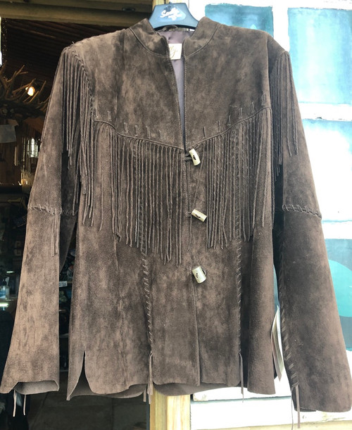 Skully suede fringed jacket