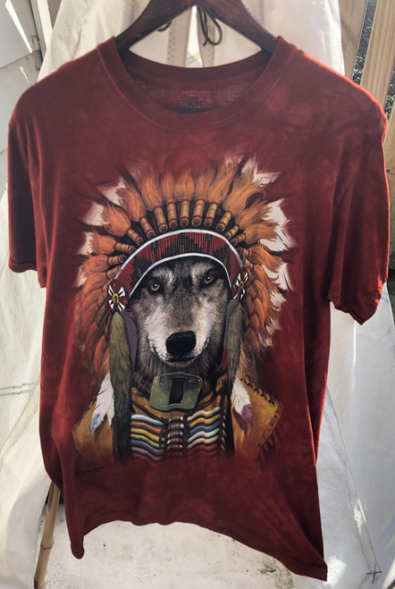 Wolf in Headdress Mountain t's