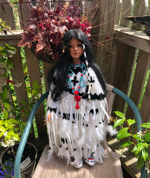 Native American Porcelain doll.
