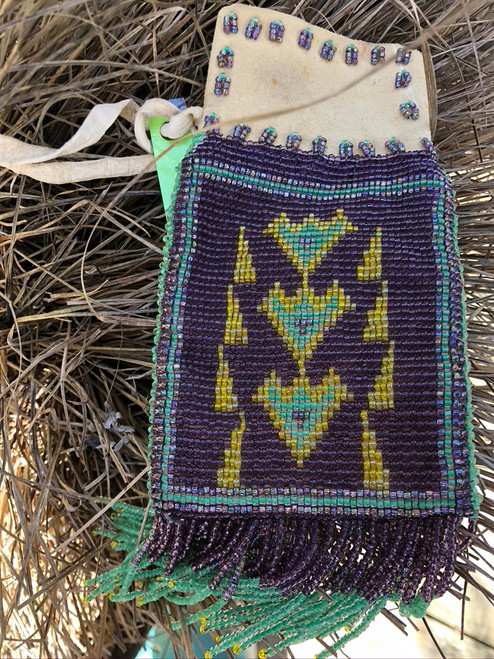 Traditional hand beaded bag