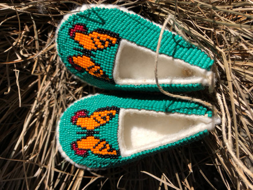Hand Beaded Baby's shoes