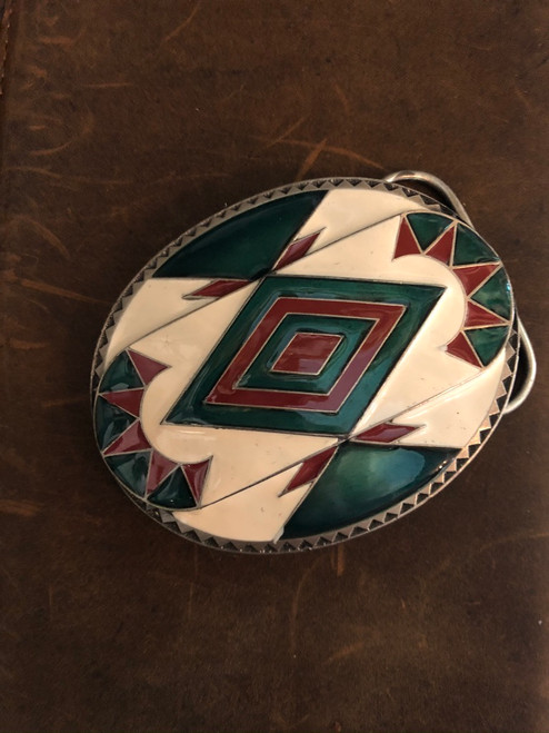 Aztec design Belt Buckle.