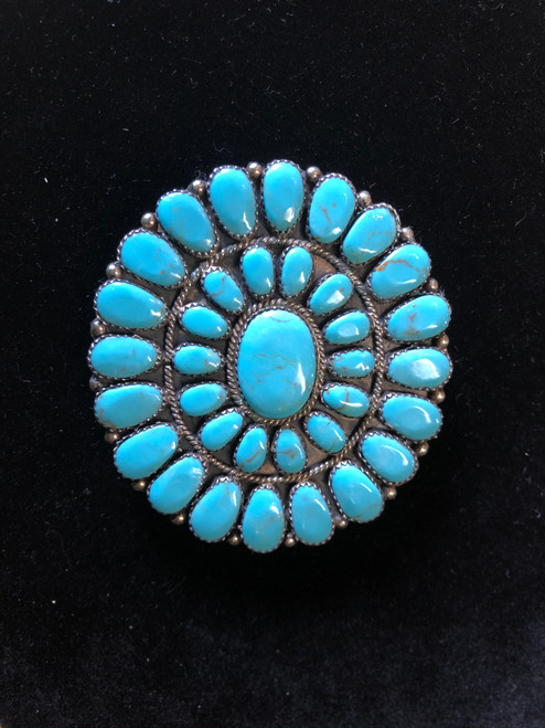 Turquoise Cluster Belt Buckle.