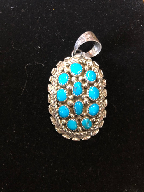 Navajo Turquoise Cluster Pendant.