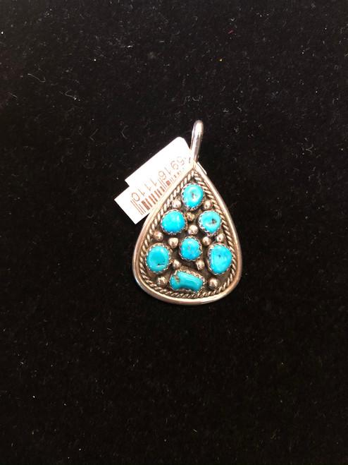 Teardrop Turquoise Pendant.