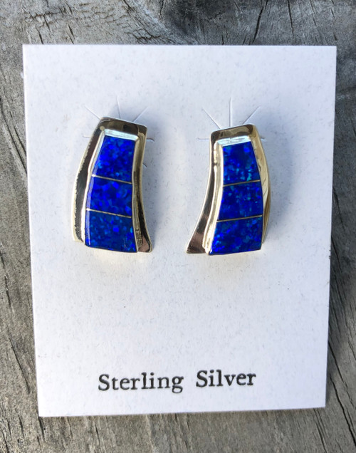 Blue Opal studs
